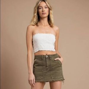 Free People | Canvas Relaxed Mini Skirt